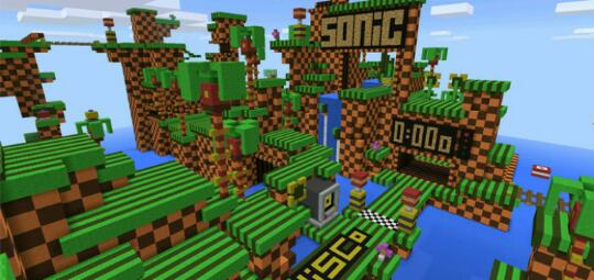 Minecraft: Pocket Edition - SONIC MAP! - Omlet Arcade